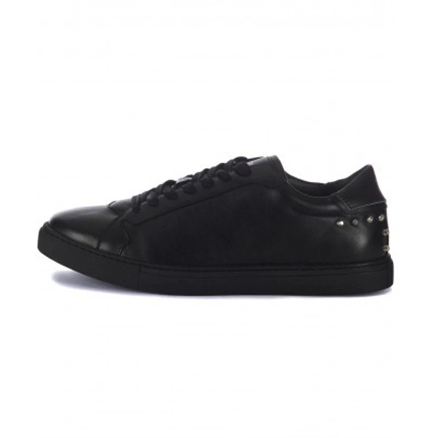 Just Cavalli Silver Stud Detail Leather Trainer