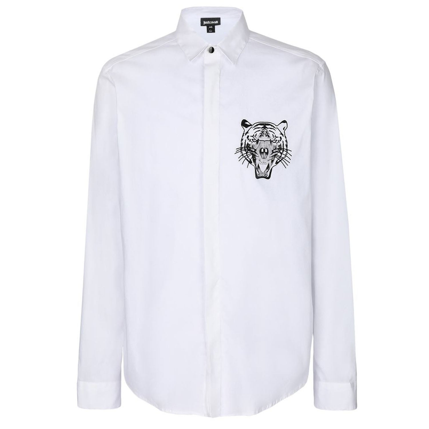 Just Cavalli Embroidered Tiger Print Shirt