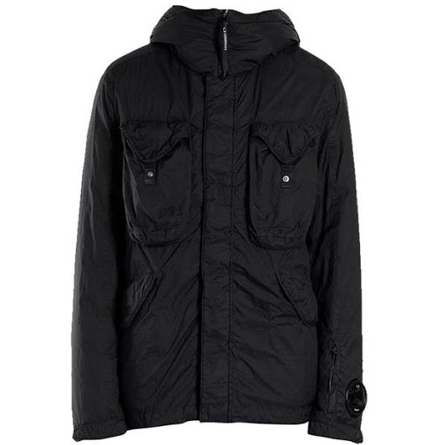 CP Company Black Hooded Coat