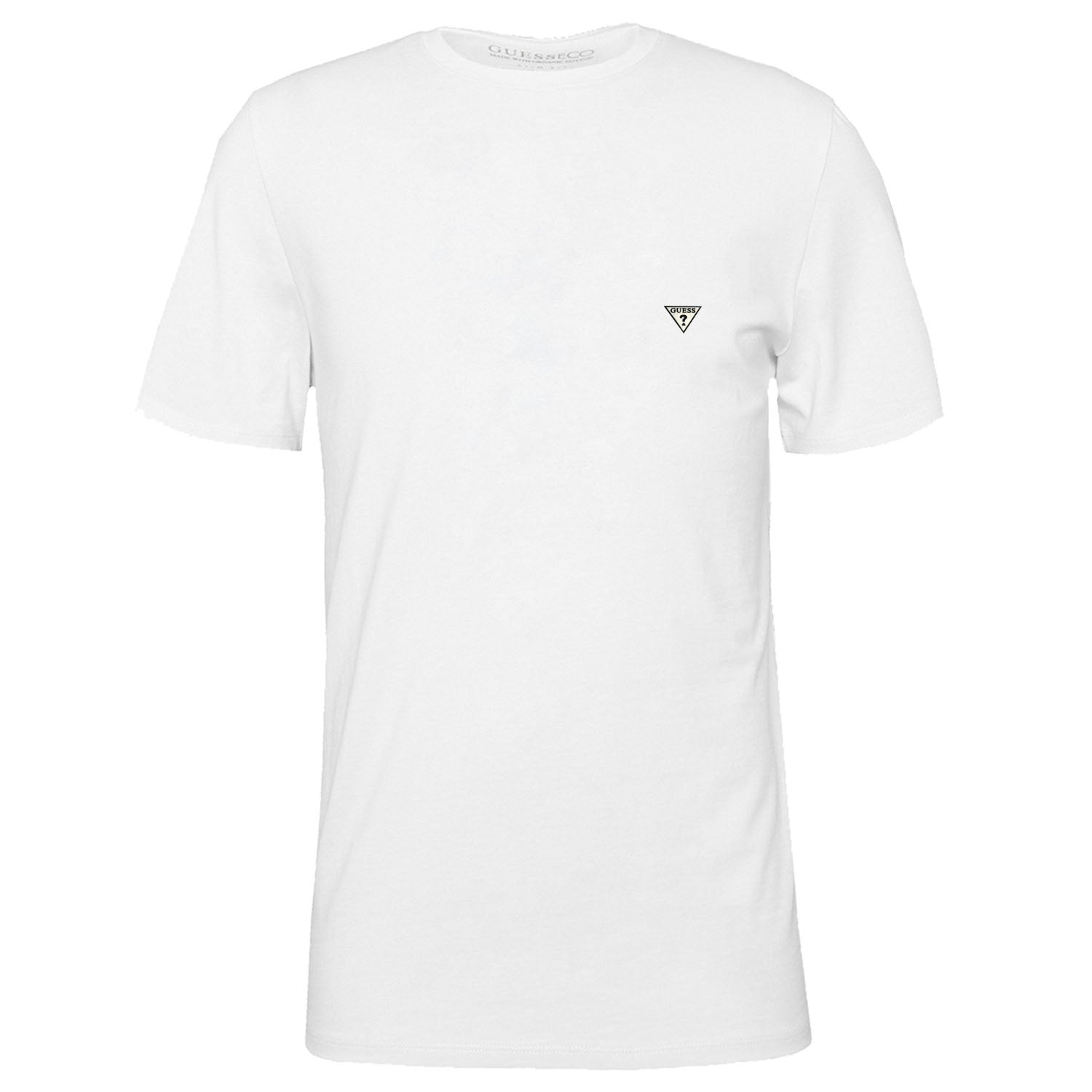 Guess Logo Detail Plain T-Shirt