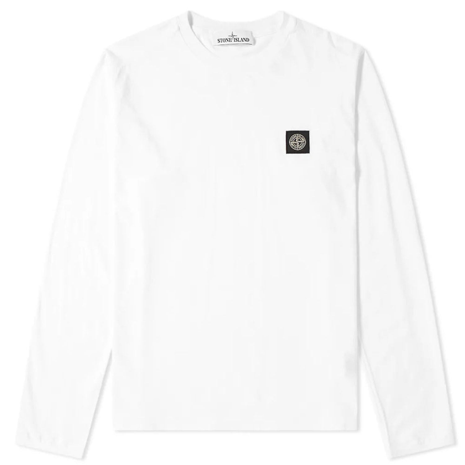 Stone Island Patch Logo Long Sleeve T-Shirt
