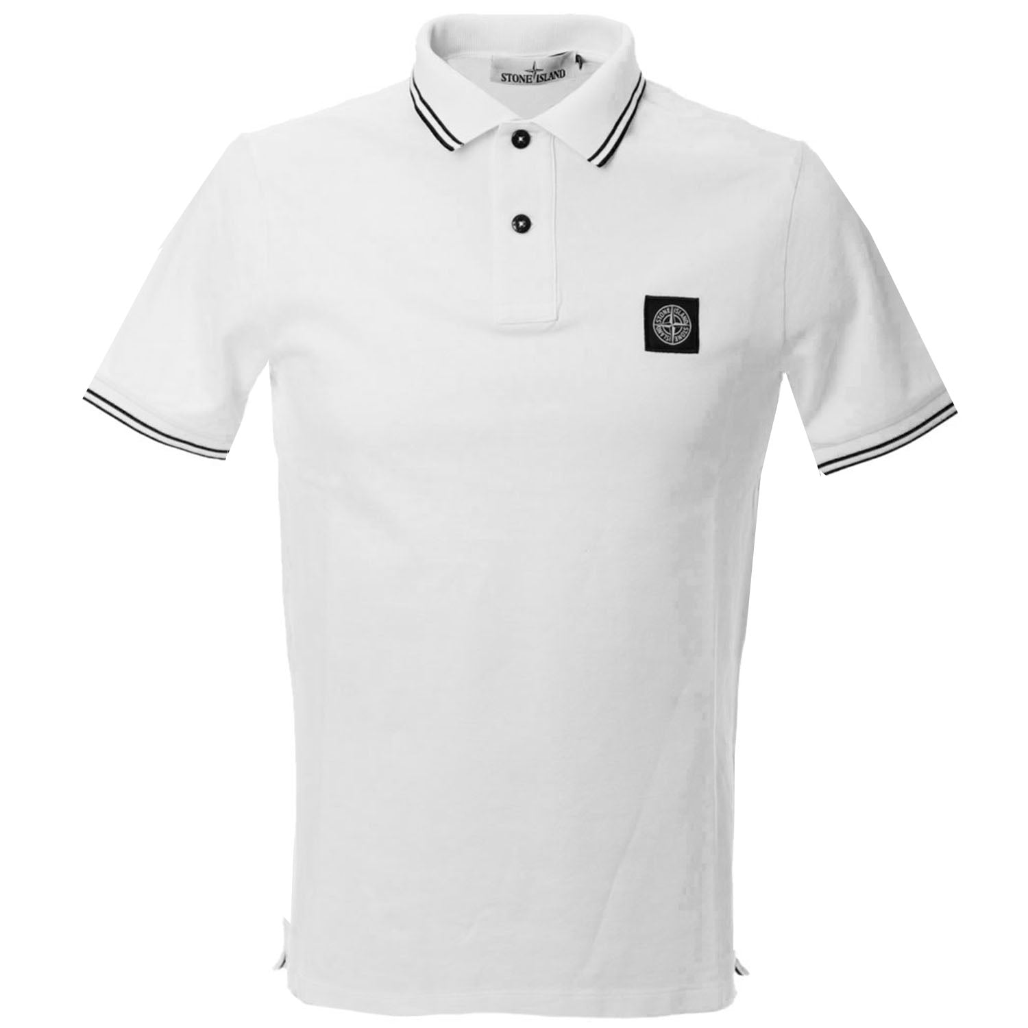 Stone Island Patch Logo Short Sleeve Polo T-Shirt