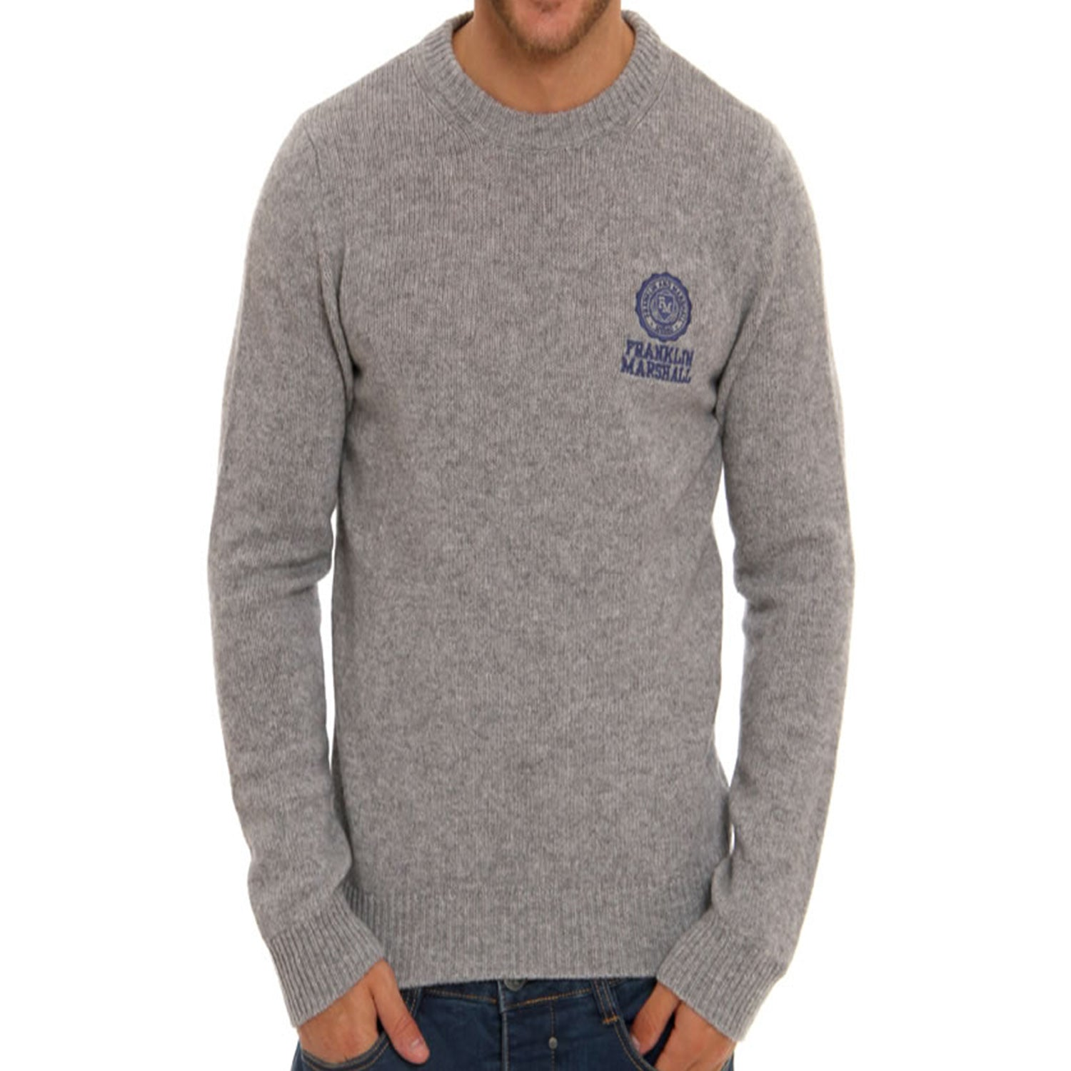 Franklin & Marshall Embroidered Logo Wool Knit