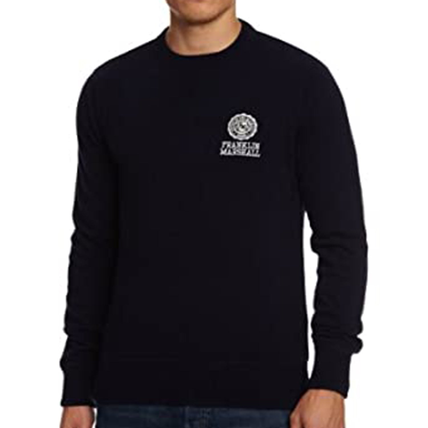 Franklin & Marshall Embroidered Logo Wool Knit Navy