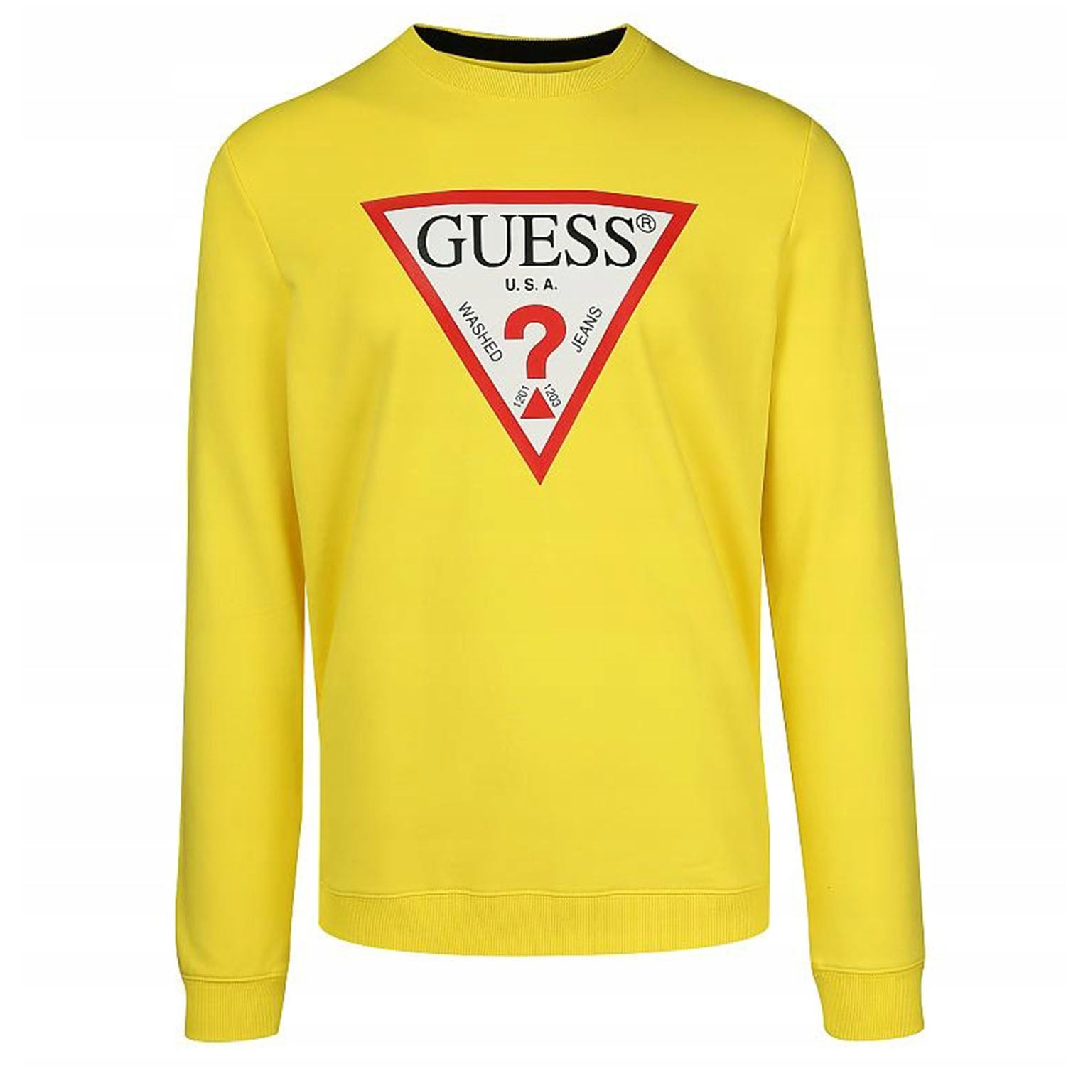 Guess Triangle Front Logo Crew Neck Sweatshirt