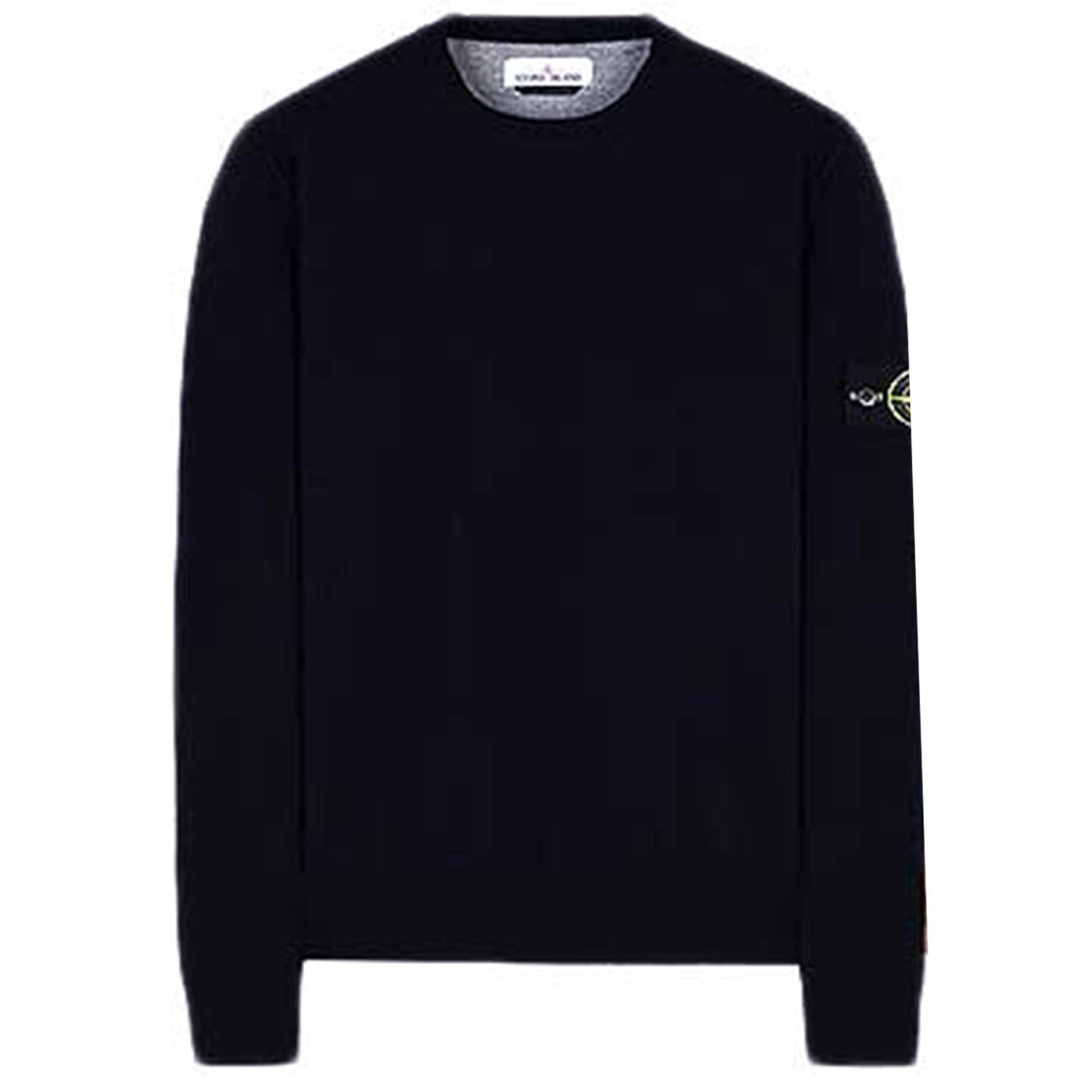 Stone Island Badge Logo Wool Knit