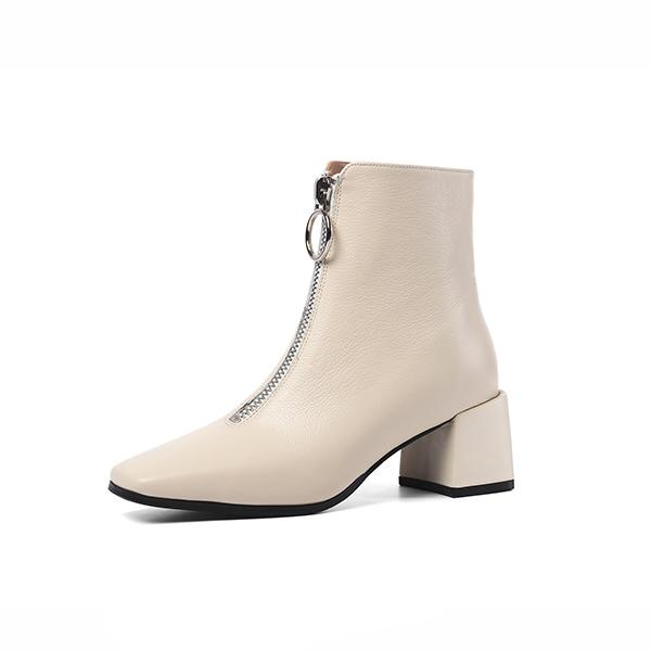 Basic Med Heel Women Boots - Zap Shoe