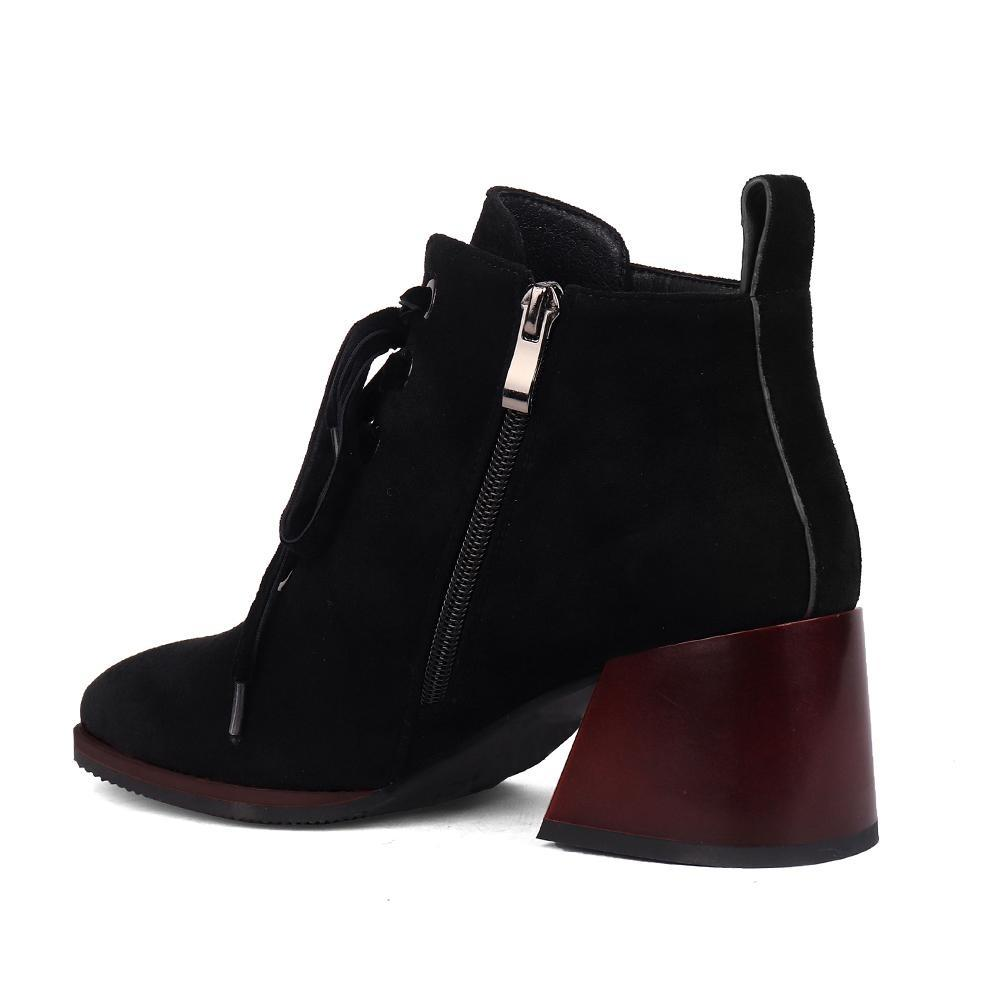 Comfortable Square Heel Boots - Zap Shoe