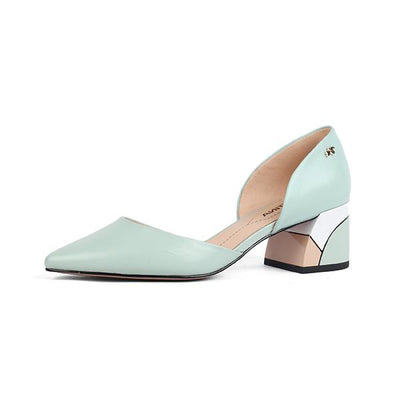 Comfortable Square Heel Pumps - Zap Shoe