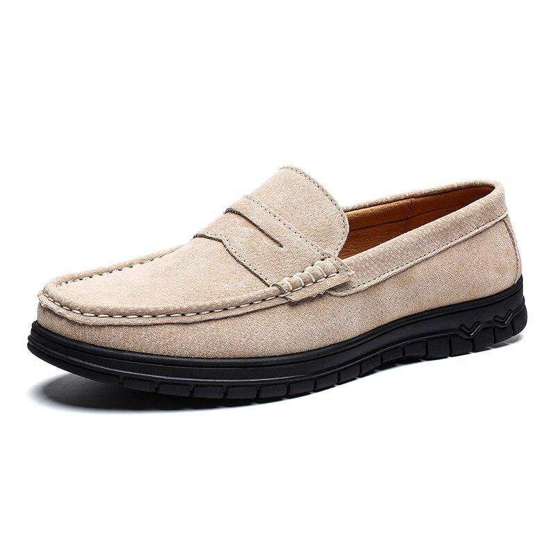 Cow Suede Leather Men Loafers - Zap Shoe
