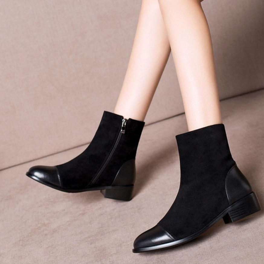 Fashion Round Toe Ladies Boots - Zap Shoe