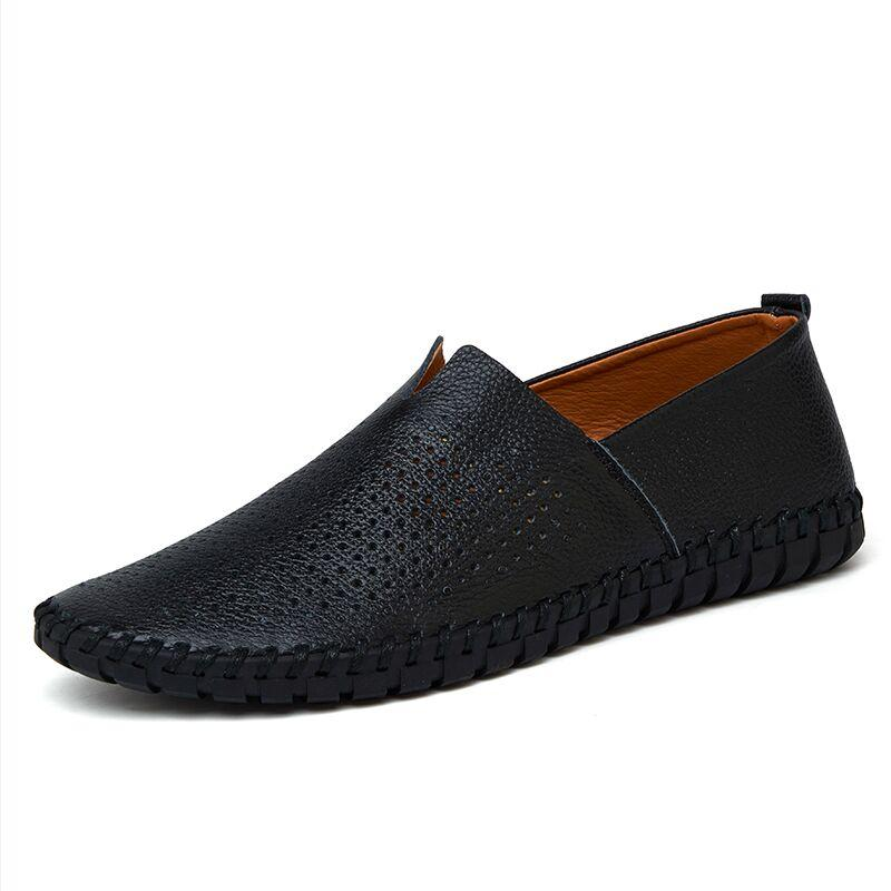 Holes Real Leather Loafers - Zap Shoe