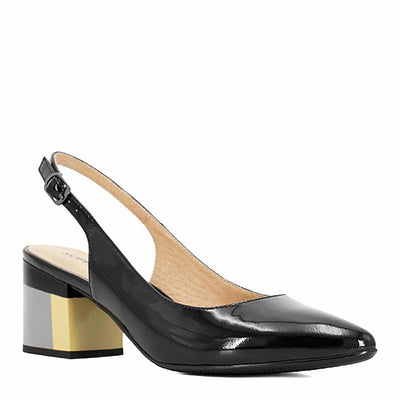 Square Heel Buckle Strap Pumps - Zap Shoe