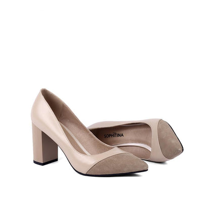 Square Heels Pumps - Zap Shoe