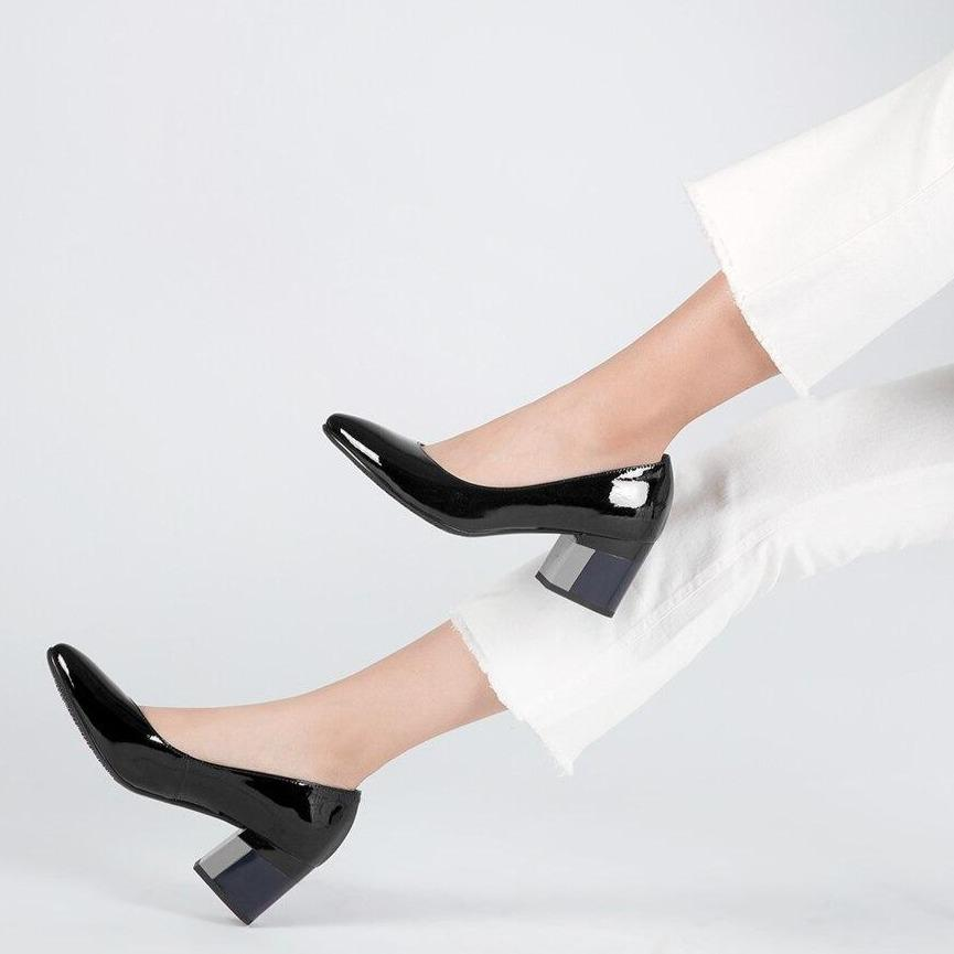 Thick Heel Ladies Pumps - Zap Shoe