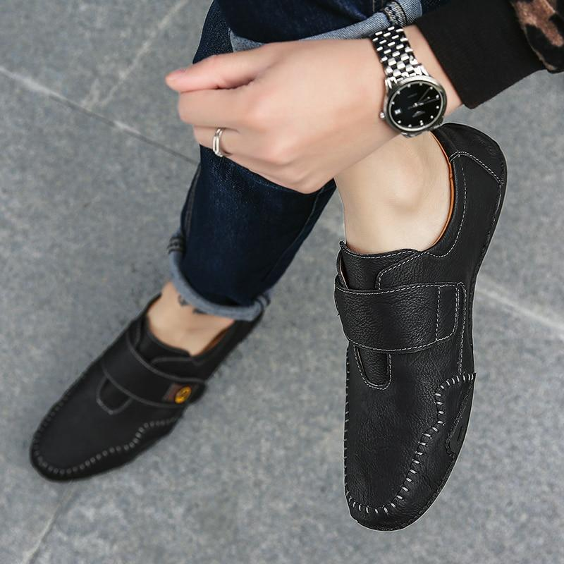 Waterproof Split Leather Loafers - Zap Shoe