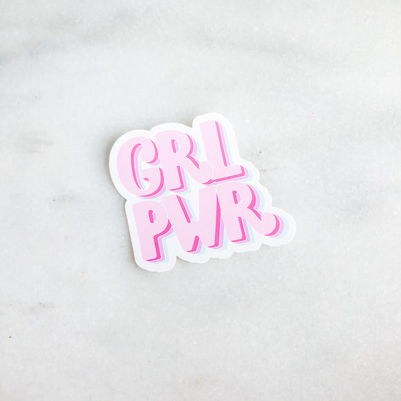 Girl Power Mirror Cling