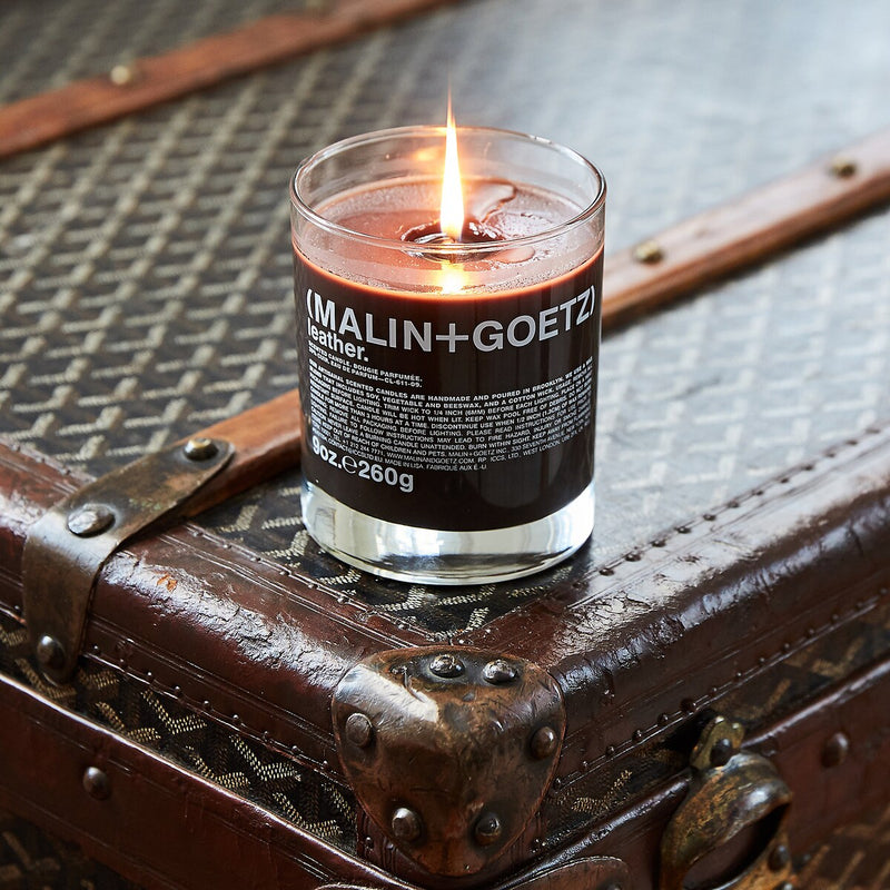 leather candle.