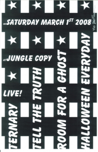 Poster 0000015 - Room For A Ghost - Live! at Jungle Copy - 2008.03.01 (Poster)