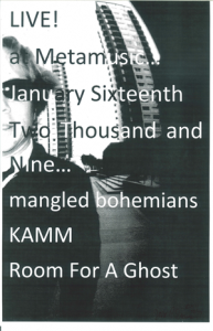 Poster 0000043 - Room For A Ghost- Live! At The Hole In The Wall Saloon - 2008.01.16 (Poster)
