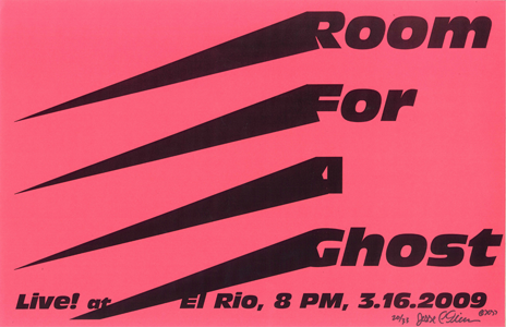 Poster 0000056 - Room For A Ghost - Live! At El Rio - 2009.03.16 (Poster)