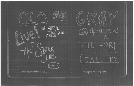 Poster 0000084 - Old And Grey - Live! At The Stork Club/ Fort Gallery - 2010.04.01/02 (Poster)