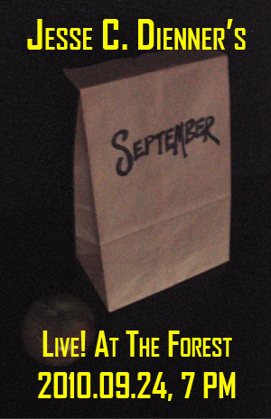 Poster 0000092 - Jesse C. Dienner - Live! At The Forest - 2010.09.24 (Poster)