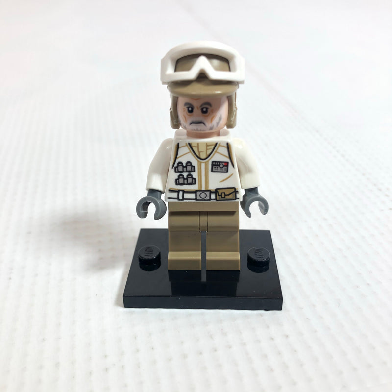 SW1014 Hoth Rebel Trooper White Uniform, Dark Tan Legs (Frown)