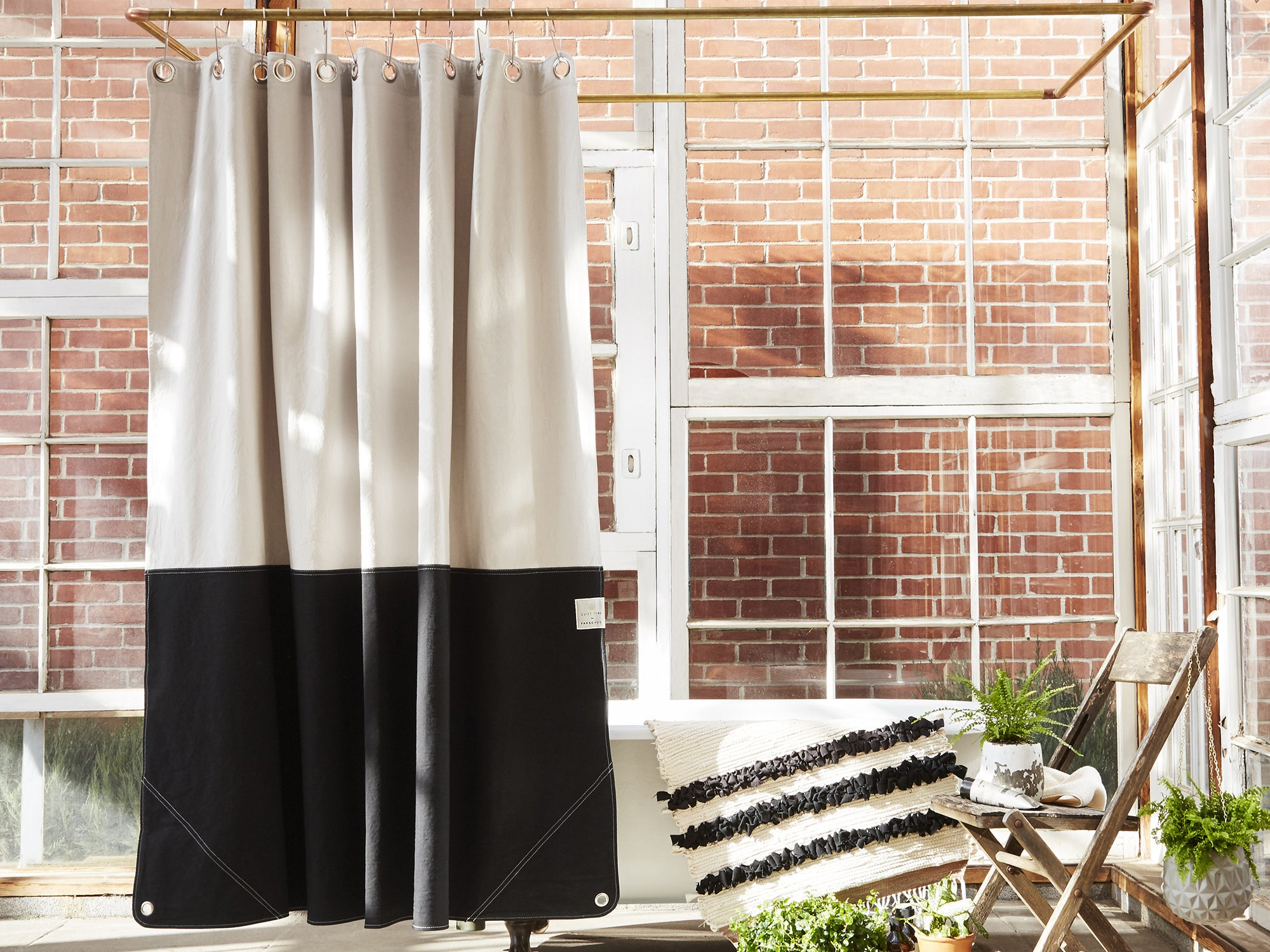 Canvas Shower Curtain Parachute