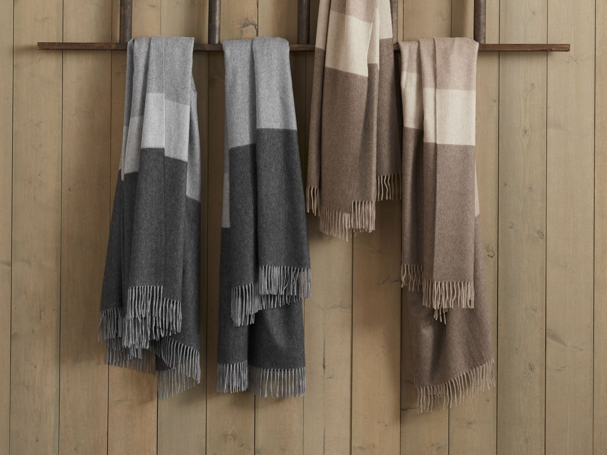 Striped Cashmere Throw