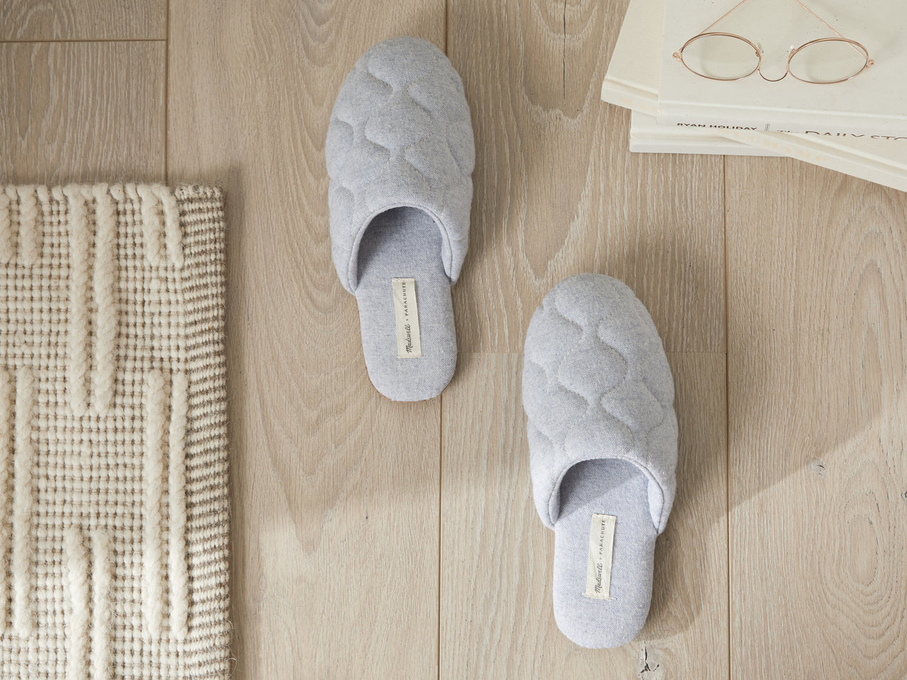 100% cotton quilted slippers