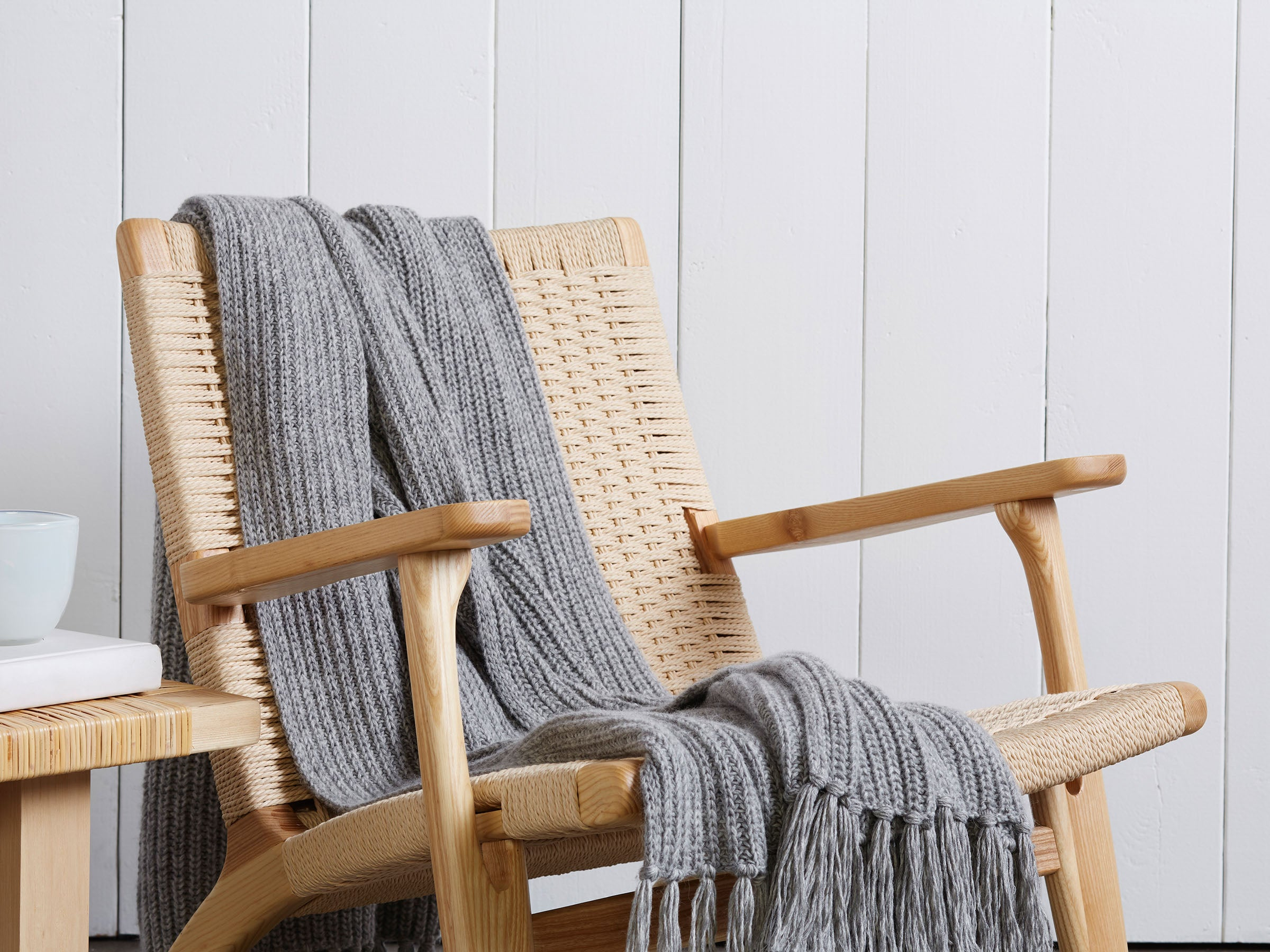 Fringe Alpaca Throw