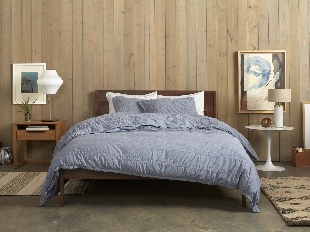 Heathered Stripe Duvet Cover Set