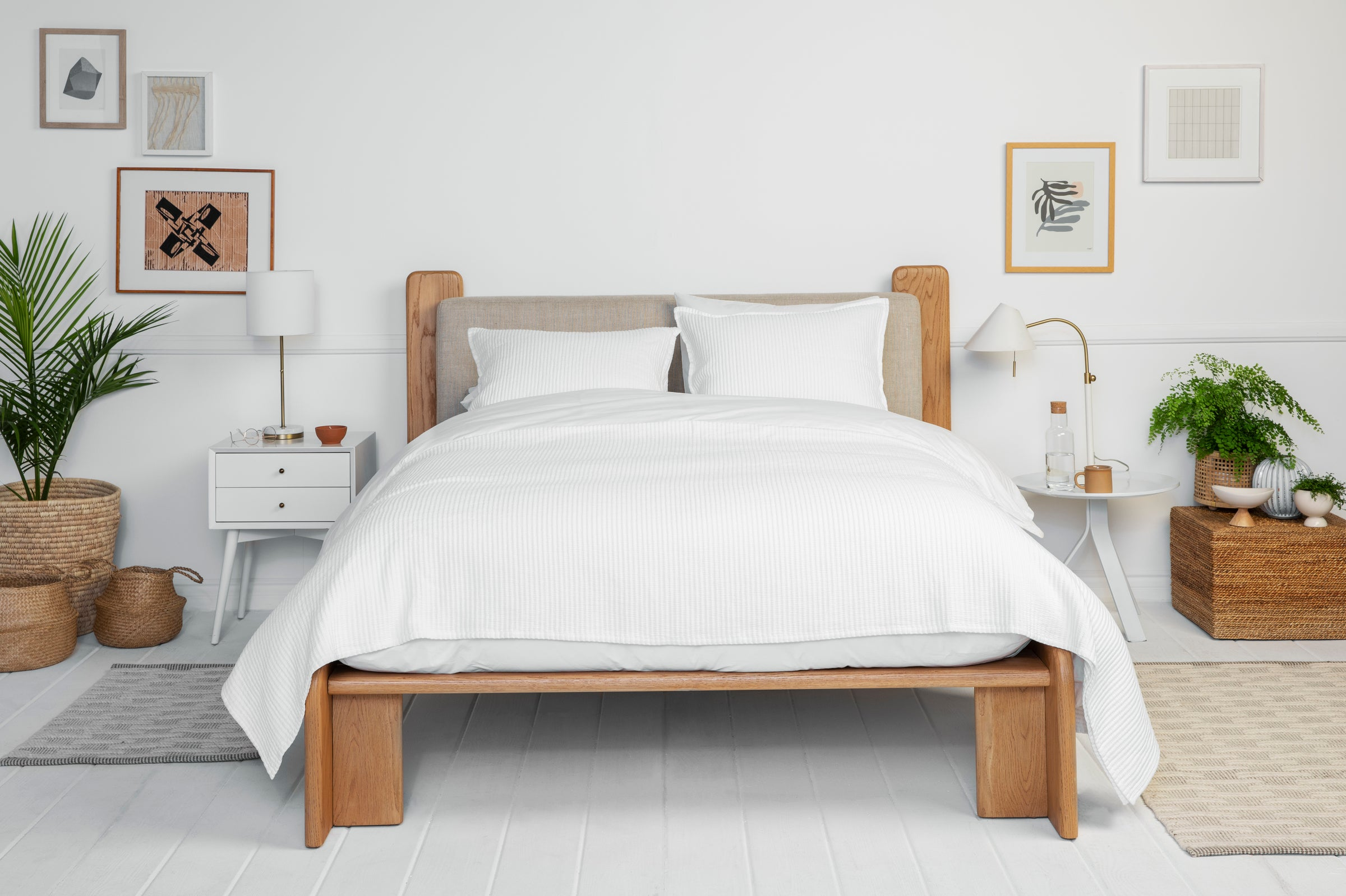 Ojai Bed - a Lawson-Fenning collaboration with Parachute Home. #californiastyle #platformbed #organicstyle #bedroomfurniture