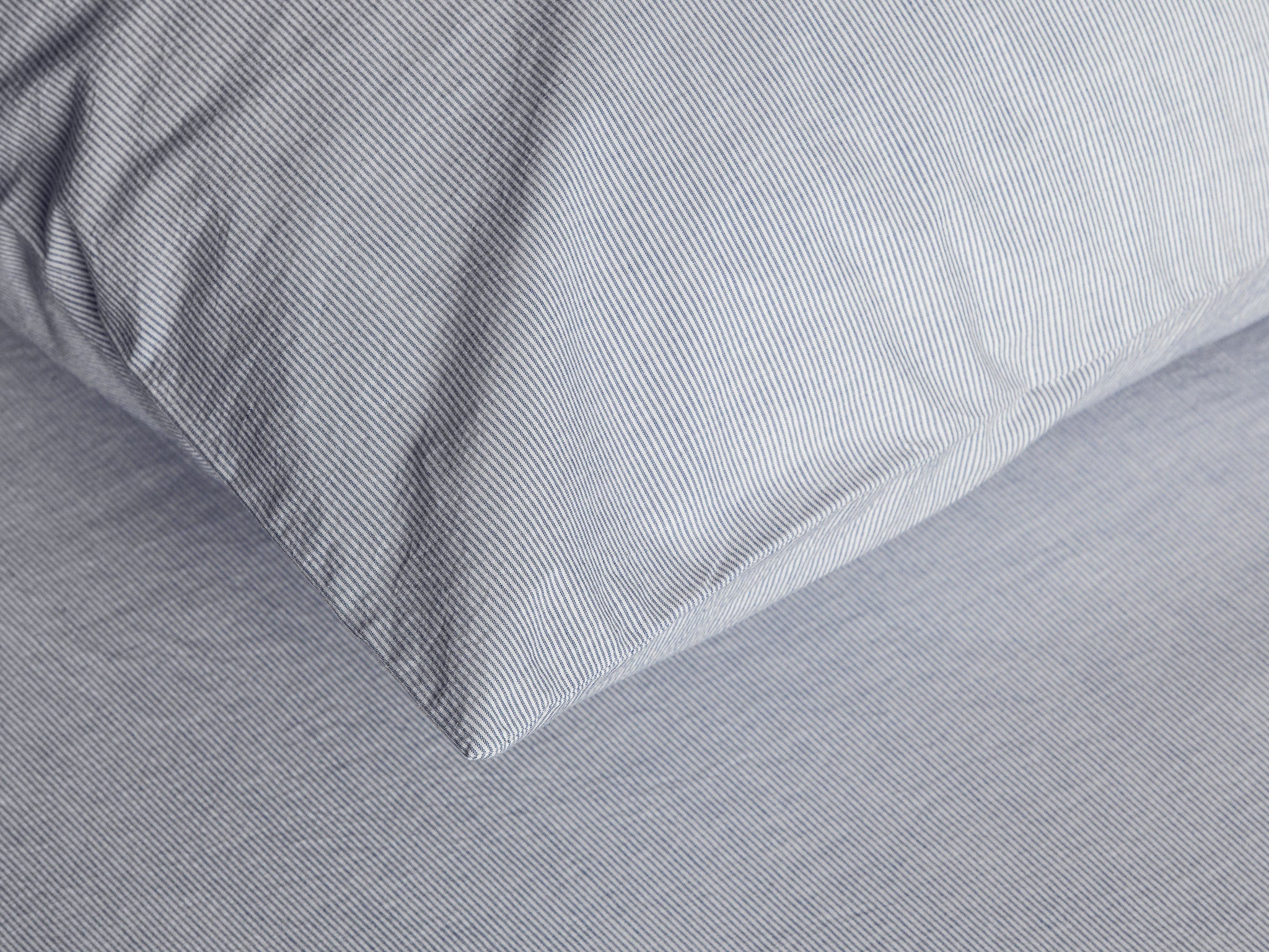 Pinstripe Percale Sheet Set