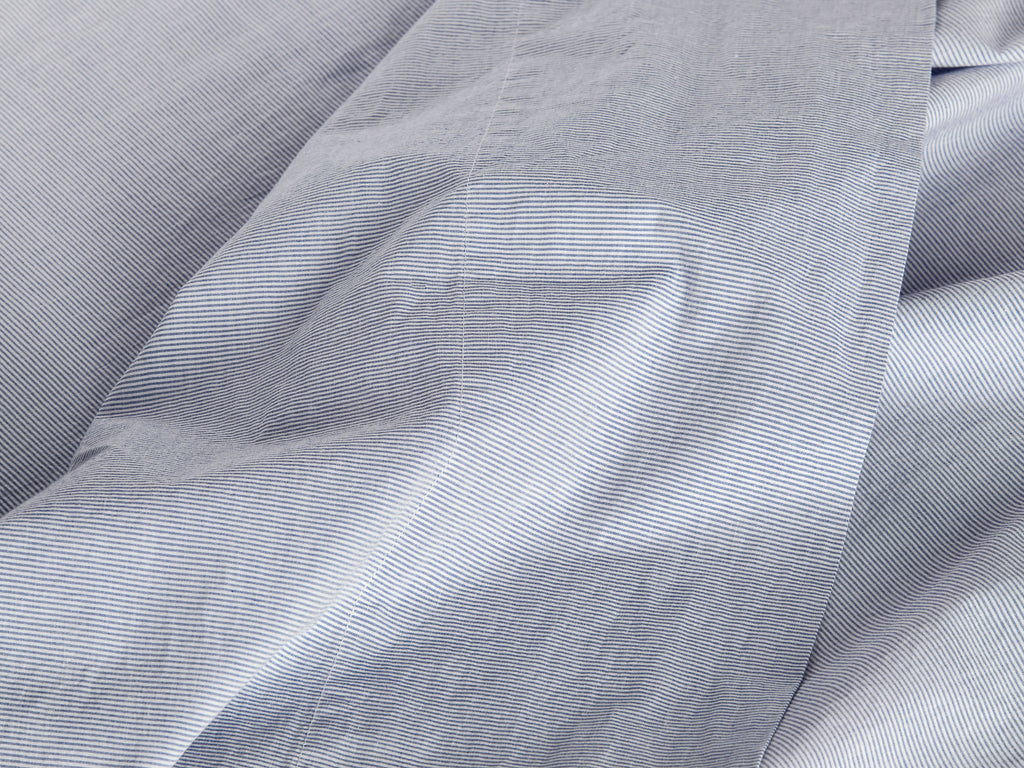 Pinstripe Percale Top Sheet