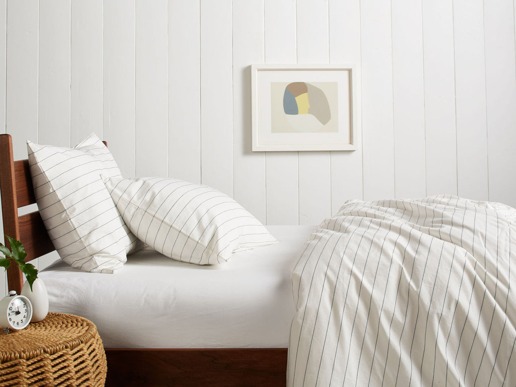 Stitch Stripe Duvet Cover Set
