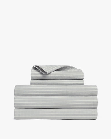 Striped Cotton Sheet Set