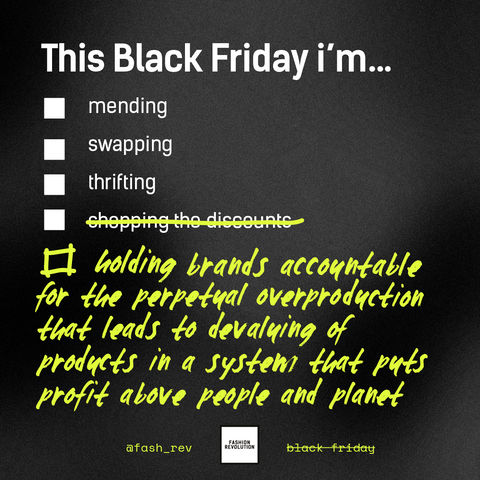 This black friday, we're holding brands accountable
