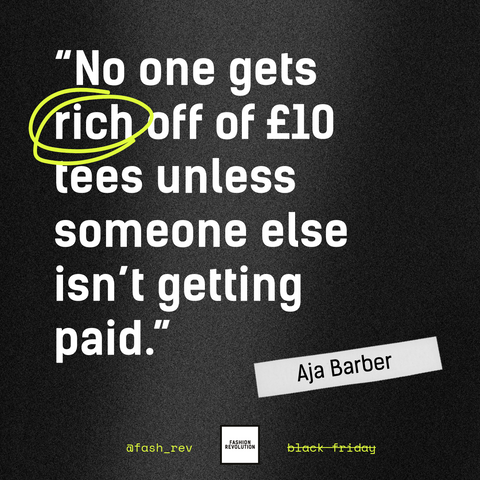 No one gets rich off of £10 tees unless someone else isn't getting paid