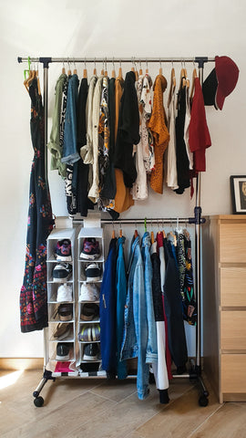neat and tidy clothing racks