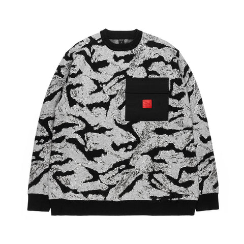 Static Camo Knit Sweater