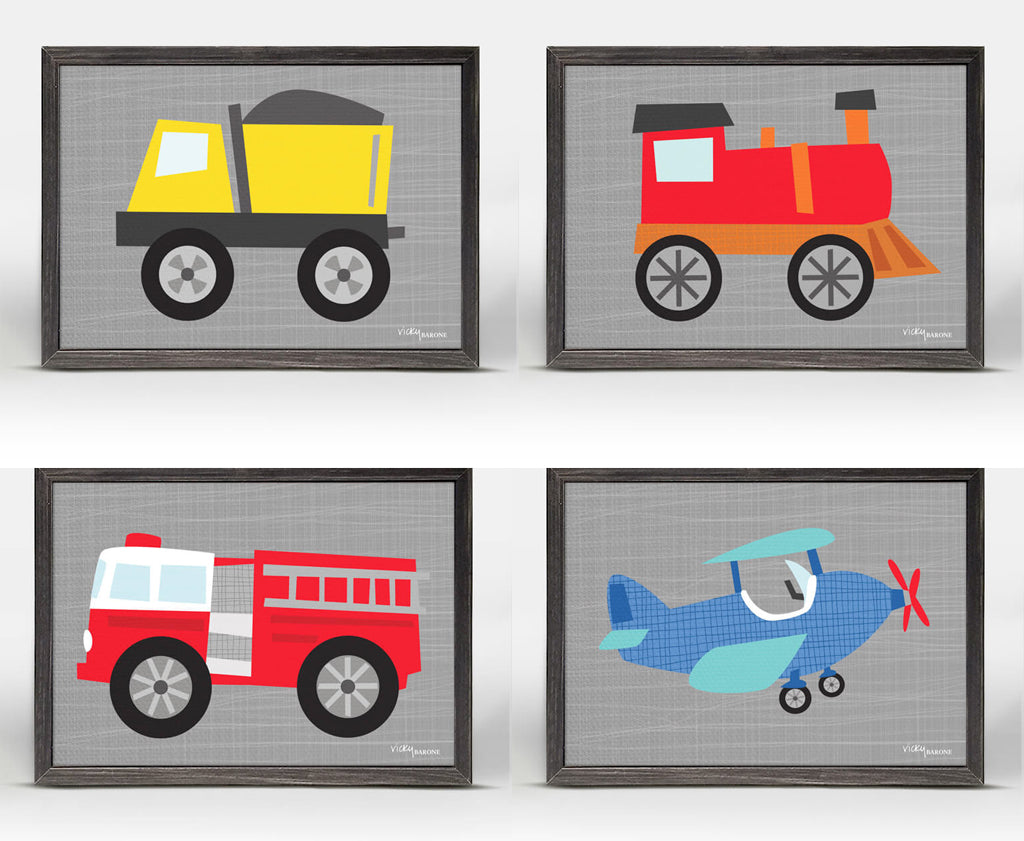 Vicky Barone Mini Framed Canvases