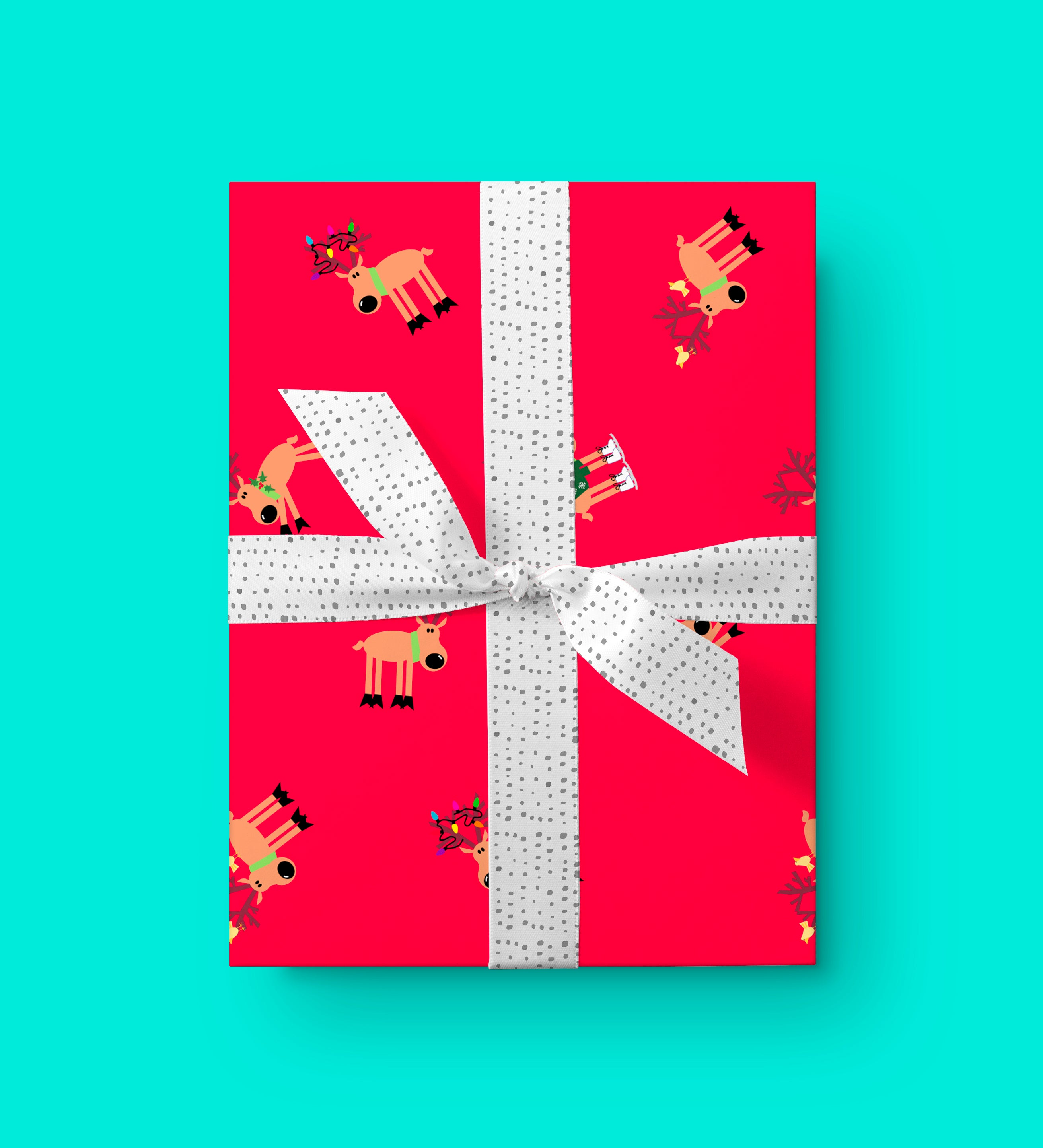 Vicky Barone Reindeer Wrapping Paper