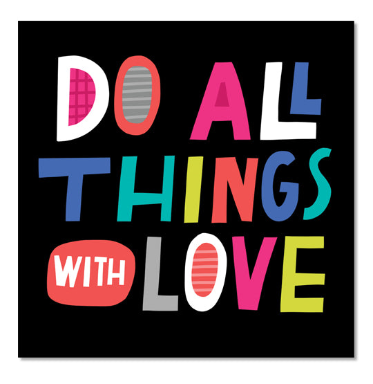Do All Things Square Sticker