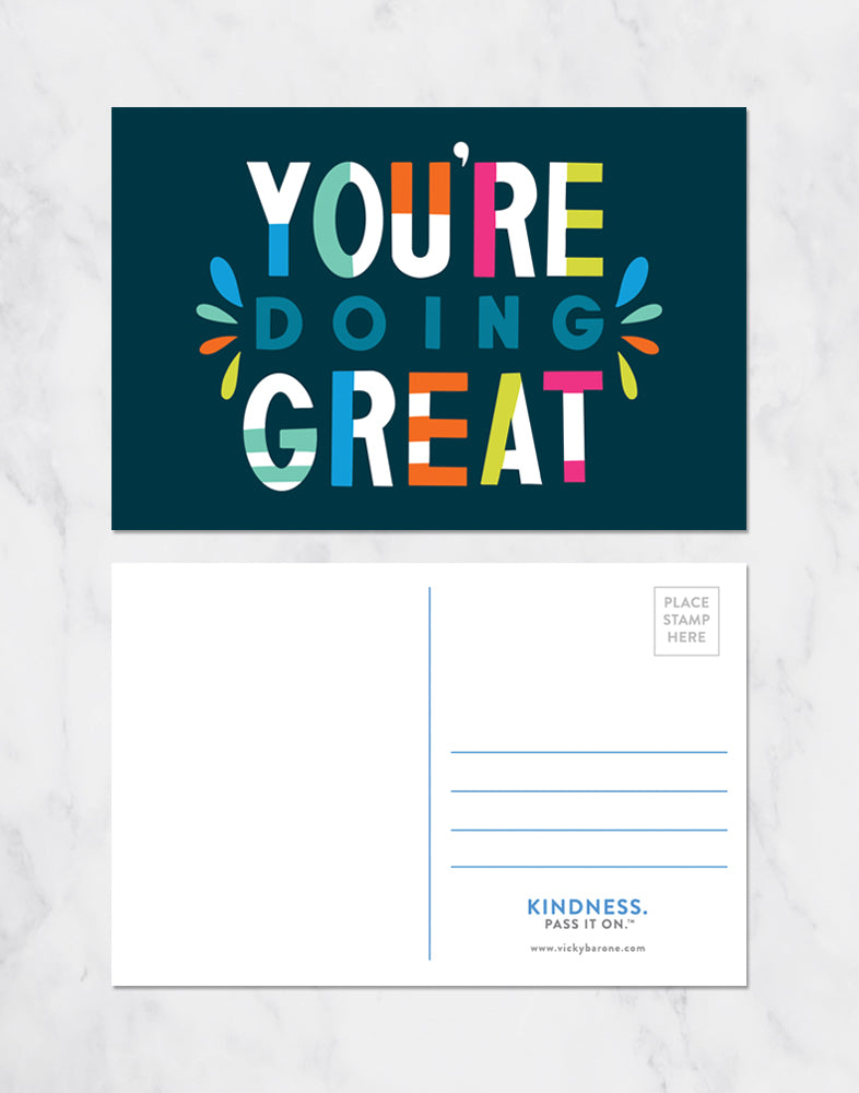 You're Doing Great Postcards