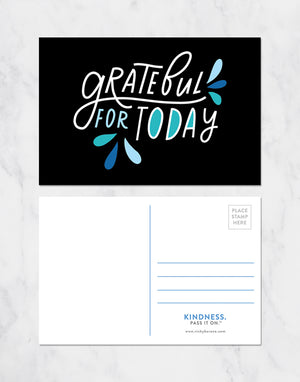 Grateful For Today Postcards