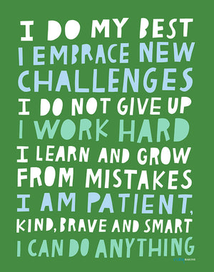 Growth Mindset Art Print