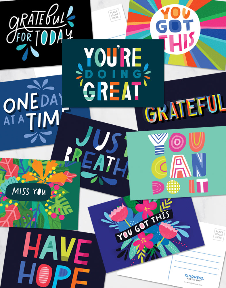 Inspirational Variety Pack of Postcards