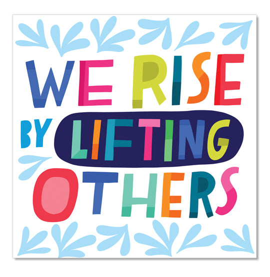 We Rise Square Sticker